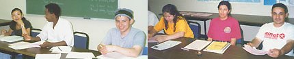 Color photos of students in 1990s ESL class. Credit: Susan Clark.